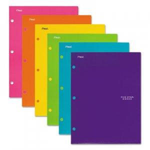 Five Star Four-Pocket Portfolio, 8 1/2 x 11, Assorted Colors, Trend Design, 4/Pack MEA38056 38056