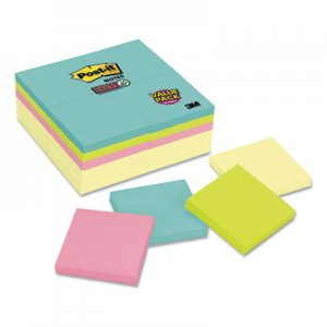 Post-it Notes Super Sticky Note Pads Office Pack, 3 x 3, Canary/Miami, 90/Pad, 24 Pads/Pack MMM65424SSCYM