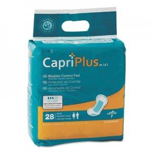 "Medline Capri Plus Bladder Control Pads, Extra Plus, 6.5"" x 13.5"", 28/Pack MIIBCPE02 BCPE02"