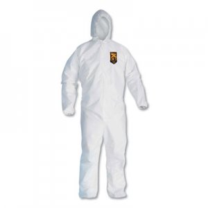 KleenGuard A20 Breathable Particle Protection Coveralls, Zip Closure, 3X-Large, White KCC49116 49116