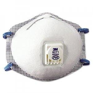 3M Particulate Respirator , P95, 10/Box MMM8271 7000002047