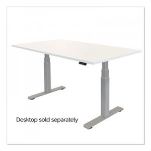 Fellowes Cambio Height Adjustable Desk Base (Base Only), 72w x 30d x 50.25h, Silver FEL9682001 9682001