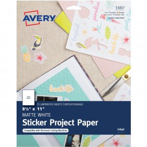 Avery Printable Sticker Paper 03383 AVE03383