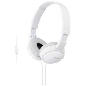 Sony ZX On-Ear Monitor Headphones, White MDRZX110AP/W