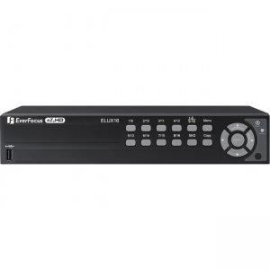 EverFocus 16 CH, H.264, 1080p Hybrid(AHD + TVI)DVR ELUX16/4T ELUX16
