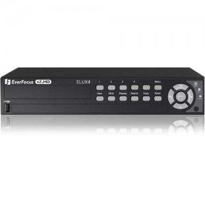 EverFocus 4 CH, H.264, 1080p Hybrid(AHD + TVI)DVR ELUX4/2T ELUX4