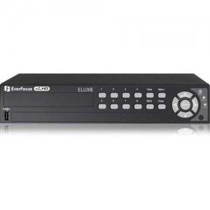 EverFocus 8 CH, H.264, 1080p Hybrid(AHD + TVI)DVR ELUX8/2T ELUX8