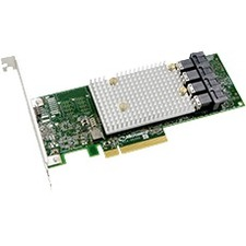 Microchip 12 Gbps PCIe Gen3 SAS/SATA Host Bus Adapter with Basic Hardware RAID 2302100-R SmartHBA 2100-16i
