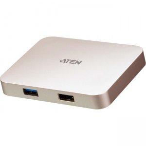 Aten USB-C 4K Ultra Mini Dock with Power Pass-through UH3235