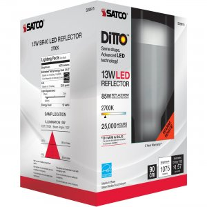 Satco 13W BR40 LED 2700K Bulb S29615 SDNS29615
