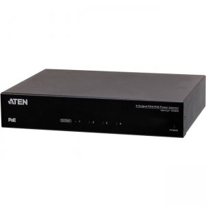 Aten 4-Output PoH/PoE Power Injector VE44PB