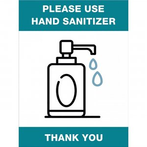 Lorell Please Use Hand Sanitizer Sign 00254 LLR00254