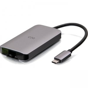 C2G 4k USB C Mini Dock with HDMI, USB, Ethernet & Power Delivery up to 100W C2G54456