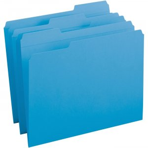 Business Source Reinforced Tab Colored File Folders 03172 BSN03172