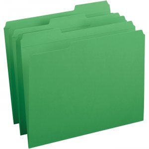 Business Source Reinforced Tab Colored File Folders 03174 BSN03174