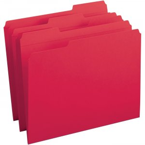 Business Source Reinforced Tab Colored File Folders 03171 BSN03171