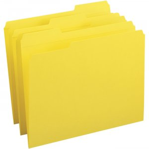 Business Source Reinforced Tab Colored File Folders 03173 BSN03173