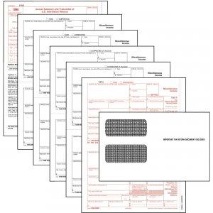TOPS 5-part 1099-NEC Tax Forms 22905KITNEC TOP22905KITNEC