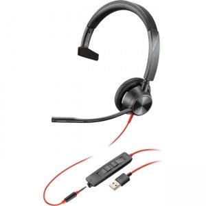 Poly Blackwire , Microsoft, USB-A 214014-101 3315