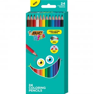 BIC Coloring Pencils BKCP24AST BICBKCP24AST
