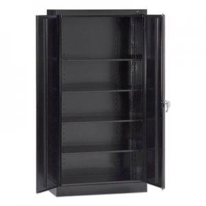 """Tennsco 72"""" High Standard Cabinet (Assembled), 30 x 15 x 72, Black TNN7215BLK 7215-BLK"""