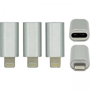Visiontek USB C to Lightning Silver - 3-Pack 901270