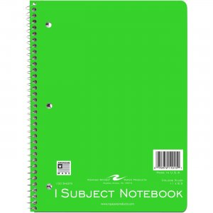 "Roaring Spring WB Notebook 1SUB 11""x8.5"" CM 11015 ROA11015"