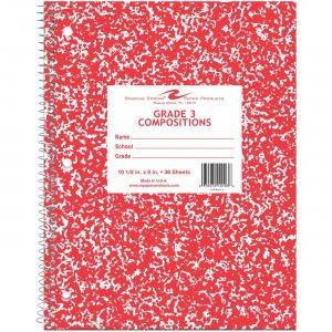 "Roaring Spring Grade Three Notebook 10.5"" X 8"" Red Cover 10103 ROA10103"