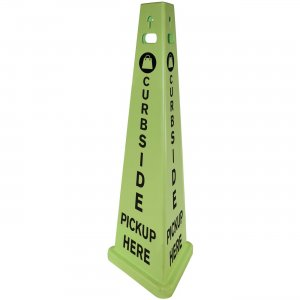 TriVu 3-sided Curbside Pickup Safety Sign 9140PUKIT IMP9140PUKIT