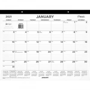 Mead Compact Monthly Desk Pad Calendar CRM90900 MEACRM90900