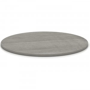 Lorell Weathered Charcoal Round Conference Table 69587 LLR69587