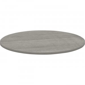 Lorell Weathered Charcoal Round Conference Table 69588 LLR69588