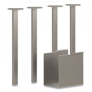 HON Coze Table Legs, 5.75 x 28, Silver, 4/Pack HONHLCPL29USPR6