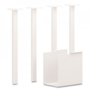 HON Coze Table Legs, 5.75 x 28, Designer White, 4/Pack HONHLCPL29USPJW