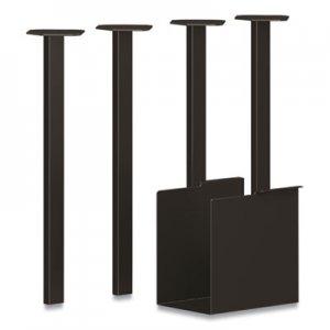 HON Coze Table Legs, 5.75 x 28, Black, 4/Pack HONHLCPL29USP71