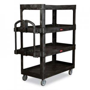 Rubbermaid Commercial 4-Shelf Heavy-Duty Ergo Utility Cart, 700 lb Capacity, 24.35 x 54.1 x 62.4
