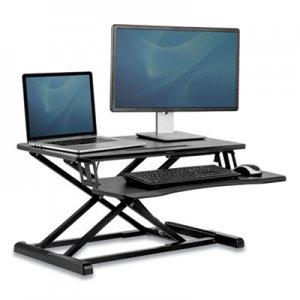 "Fellowes Corsivo Sit-Stand Workstation, 31.5"" x 24.25"" x 16"", Black FEL8091001 8091001"