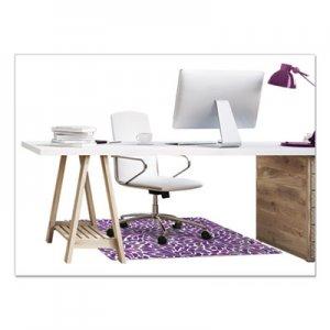 deflecto FashionMat Chair Mat, Rectangular, 35 x 40, Rain DEFCM3540PR CM3540PR