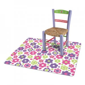deflecto FashionMat Chair Mat, Rectangular, 35 x 40, Daisies DEFCM3540LD CM3540LD