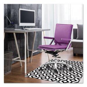 deflecto FashionMat Chair Mat, Rectangular, 35 x 40, Diamonds DEFCM3540BD CM3540BD