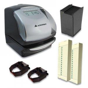 Acroprint ES900 Time Clock Bundle, Black ACPTRB950 01-0209-200