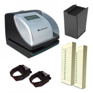 Acroprint ES700 Time Clock and Document Stamp Bundle, Black/Silver ACPTRB750 01-0182-200