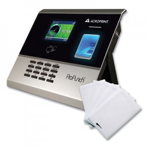 Acroprint ProPunch Biometric and Proximity Bundle, Black ACPOLB300 01-0289-200