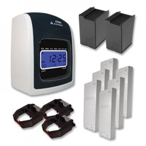 Acroprint ATR480 Time Clock and Accessories Bundle, White/Charcoal ACPTTB500 01-0285-200