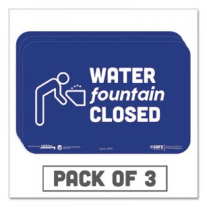 "Tabbies BeSafe Messaging Education Wall Signs, 9 x 6, ""Water Fountain Closed"", 3/Pack TAB29515 29515"