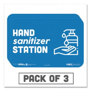 "Tabbies BeSafe Messaging Education Wall Signs, 9 x 6, ""Hand Sanitizer Station"", 3/Pack TAB29514 29514"