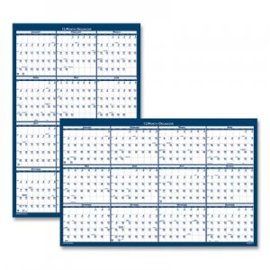 House of Doolittle 100% Recycled Yearly Reversible Wall Calendar Non-Laminated, 24 x 37, 2021 HOD3990 3990