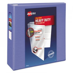 """Avery Heavy-Duty View Binder with DuraHinge and Locking One Touch EZD Rings, 3 Rings, 4"""" Capacity, 11 x 8"""