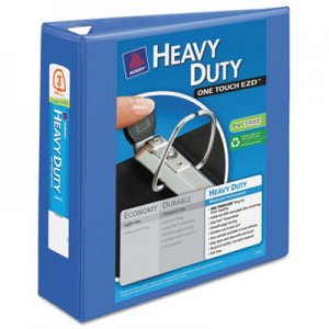 """Avery Heavy-Duty View Binder with DuraHinge and Locking One Touch EZD Rings, 3 Rings, 3"""" Capacity, 11 x 8"""