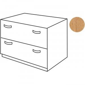 Bush Business Furniture Series C36W 2-Drawer Lateral File - Assembled in Light Oak WC60354ASU